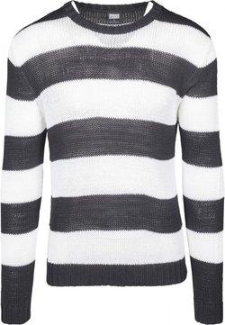 Urban Classics - STRIPED - Strickpullover - black/white