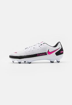 Nike Performance - PHANTOM GT ACADEMY FG/MG - Fußballschuh Nocken - white/pink blast/black
