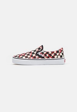 Vans - CLASSIC UNISEX - Instappers - checkerboard/red
