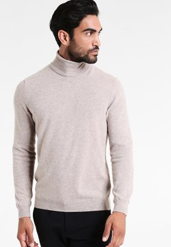 Benetton - BASIC ROLL NECK - Pullover - beige