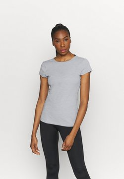 Nike Performance - LUXE - T-Shirt basic - particle grey/platinum tint