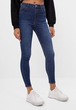 Bershka - MIT SEHR HOHEM BUND  - Jeans Skinny Fit - dark blue