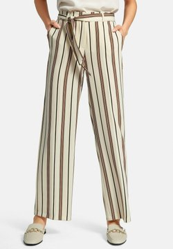 DAY.LIKE - HOSE WIDE-LEG - Stoffhose - hellbeige/multicolor