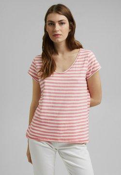 Esprit - SLUB - T-Shirt print - pink