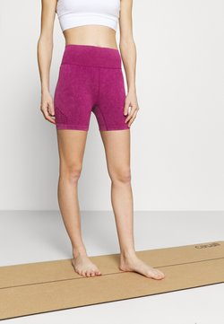 Cotton On Body - LIFESTYLE SEAMLESS YOGA SHORT - Tights - boysenberry