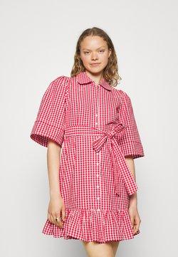 byTiMo - CHECKS KITCHEN DRESS - Blusenkleid - red