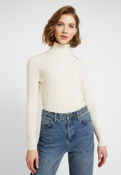 Superdry - CROYDE CABLE ROLL NECK - Sweter - winter