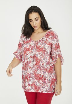 SPG Woman - MIT KASCHMIRMUSTER - Bluse - rot