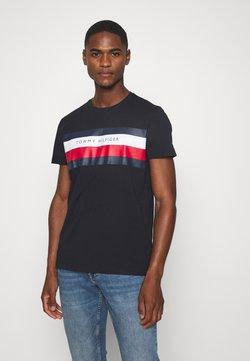 Tommy Hilfiger - STRIPE TEE - T-shirt con stampa - blue