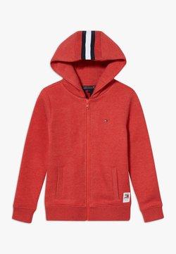 Tommy Hilfiger - BACK INSERT HOODED FULL ZIP - veste en sweat zippée - red