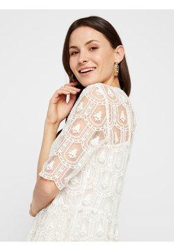 Pieces - MESH DETAIL - Etui-jurk - bright white