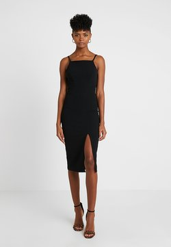 WAL G. - STRAPPY SQUARE NECK MIDI DRESS - Etui-jurk - black