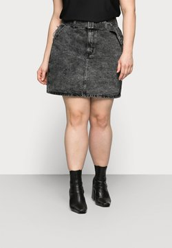 Glamorous Curve - MINI SKIRT WITH BELT - Minirock - black