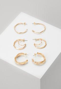Pieces - PCSANDRA HOOP EARRINGS 3 PACK - Earrings - gold-coloured