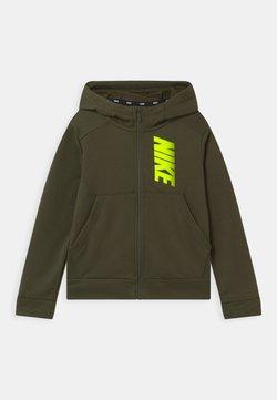 Nike Performance - veste en sweat zippée - cargo khaki/volt