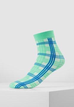 Swedish Stockings - GRETA TARTAN SOCKS - Socken - green/sea blue
