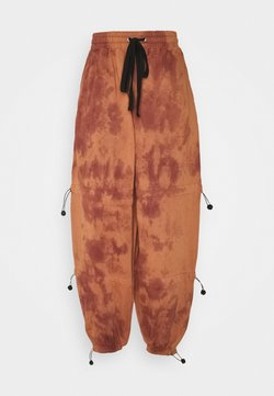 Missguided - TIE DYE DETAIL JOGGERS - Jogginghose - brown