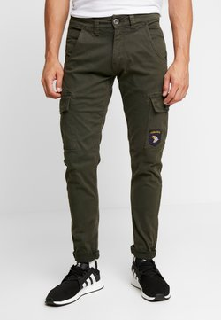 Alpha Industries - PETROL PATCH - Cargo trousers - greyblack
