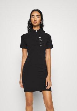Nike Sportswear - DRESS - Jersey dress - black/white