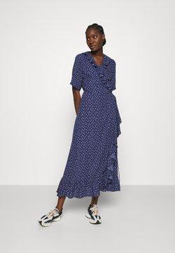 JUST FEMALE - DAISY MAXI WRAP DRESS - Maxikleid - patriot blue