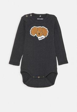 Mini Rodini - BABY FLUFFY DOG PATCH UNISEX - Body - black