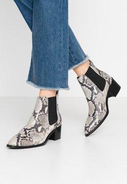 Bianco - BIACAROL PRINT LEATHER CHELSEA - Boots à talons - grey
