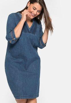 Sheego - Jeanskleid - blue denim