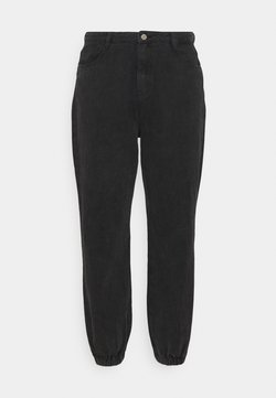 Missguided Plus - RIOT HIGHWAISTED MOM - Relaxed fit -farkut - black