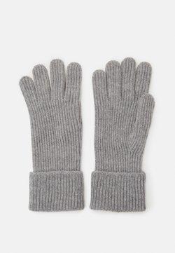 Johnstons of Elgin - 100% Cashmere Gloves  - Fingerhandschuh - silver