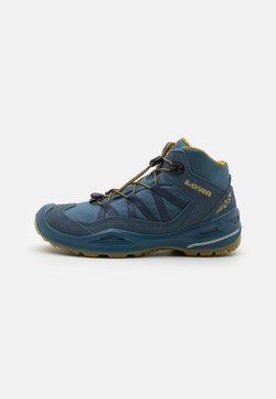 Lowa - ROBIN GTX QC UNISEX - Hiking shoes - stahlblau/senf
