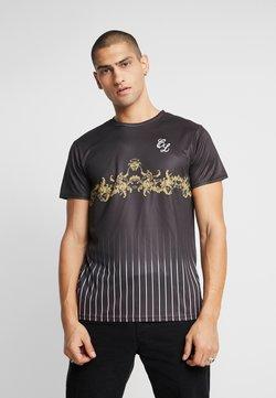 CLOSURE London - BAROQUE PIN STRIPE TEE - Print T-shirt - black