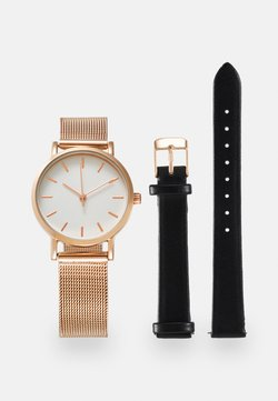 Even&Odd - SET - Zegarek - rose gold-coloured/black