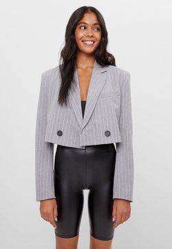 Bershka - Pantalon en cuir - black