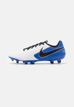 Nike Performance - TIEMPO LEGEND 8 ACADEMY FG/MG - Moulded stud football boots - white/black/hyper royal/metallic silver