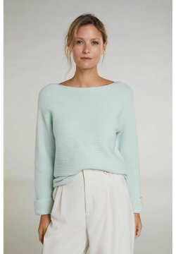 Oui - Strickpullover - clearly aqua