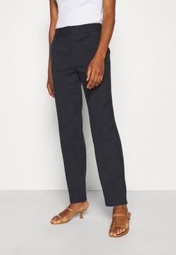 Selected Femme Tall - SLFRIA CROPPED PANT - Stoffhose - dark sapphire