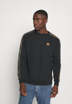 adidas Originals - CAMO CREWNECK - Sweater - black
