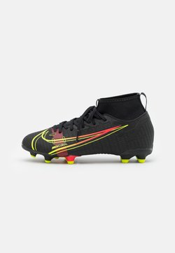 Nike Performance - MERCURIAL JR 8 ACADEMY FG/MG UNISEX - Tekonurmikengät - black/cyber/off noir
