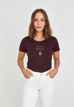 KULTgut GbR - MOTHER EARTH - T-Shirt print - bordeaux