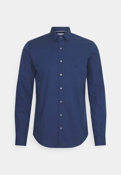 Calvin Klein Tailored - DOT EASY CARE SLIM SHIRT - Chemise classique - navy