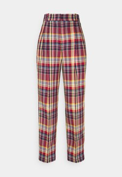 GANT - PLEATED CHECKED PANTS - Stoffhose - lava red