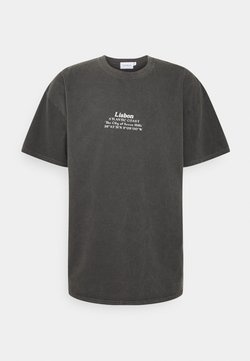 Topman - LISBON HERTIAGE PRINT TEE - T-Shirt print - black