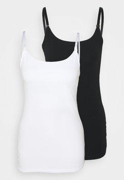 Lindex - NURSING CAMISOLE 2 PACK - Unterhemd/-shirt - combi