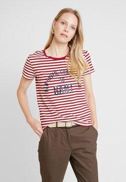 GANT - STRIPE GRAPHIC - T-Shirt print - mahogny red