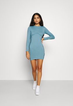 Missguided - RUCHED SIDE MINI DRESS - Vestido ligero - blue
