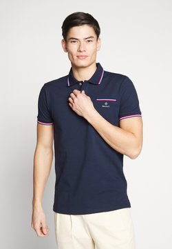 GANT - TIPPING RUGGER - Poloshirt - evening blue