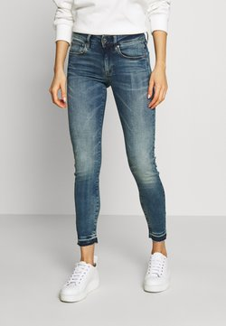 G-Star - 3301 MID SKINNY RIPPED ANKLE  - Jeans Skinny Fit - faded azurite
