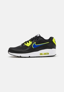 Nike Sportswear - AIR MAX 90 UNISEX - Sneakersy niskie - black/racer blue/volt/vivid purple/white