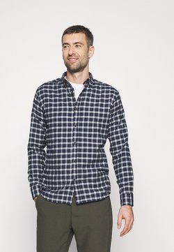 Kronstadt - JOHAN BRUSHED CHECK - Camicia - navy