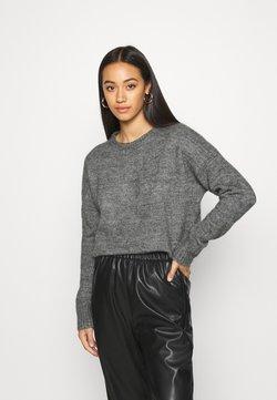 Even&Odd - BASIC- WOOL BLEND - Pullover - mid grey melange